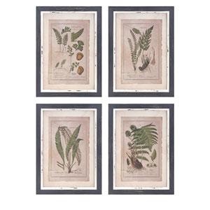 Botanical Print Wall Decor, Set of 4