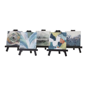 Beth Kushnick Mini Canvas with Easel, Set of 5