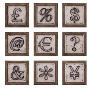 Beth Kushnick Symbols Wall Decor, Set of 9