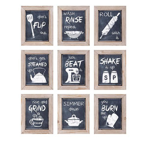 Kitchen Inspirations Wall Decor, Set of 9
