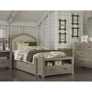 Highlands Driftwood Bailey Twin Bed with Trundle