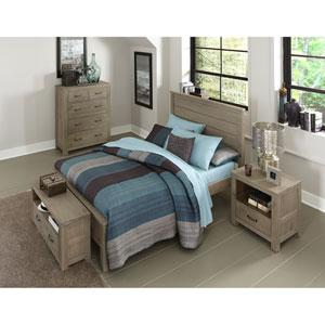 Highlands Driftwood Full Alex Panel Bed