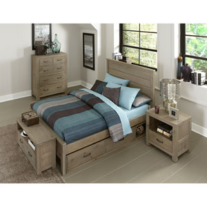 Highlands Driftwood Alex Full Bed with Storage