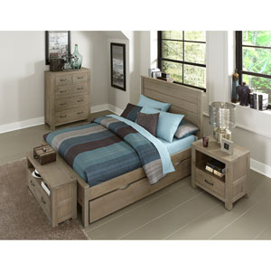 Highlands Driftwood Alex Full Bed with Trundle