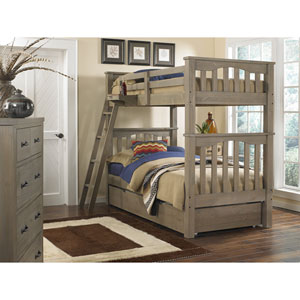 Highlands Driftwood Harper Twin/Twin Bunk Bed with Trundle