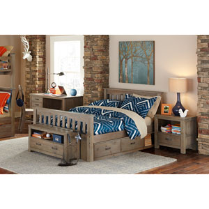 Highlands Driftwood Harper Full Bed with Storage