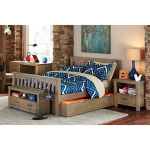 Highlands Driftwood Harper Full Bed with Trundle