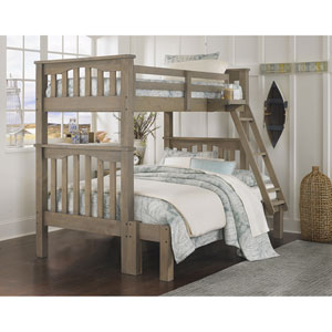 Highlands Driftwood Harper Twin Over Full Bunk Bed Full Extension