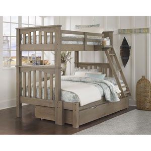 Highlands Driftwood Harper Twin Over Full Bunk Bed with Trundle