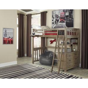Highlands Driftwood Twin Loft Bed