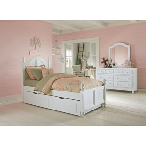 Lake House White Payton Arch Twin Bed with Trundle