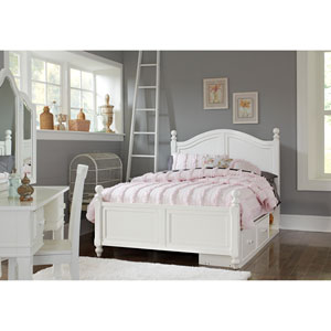 Lake House White Payton Arch Full Bed with Storage