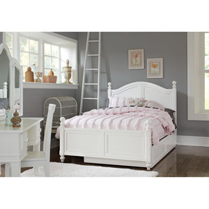 Lake House White Payton Arch Full Bed with Trundle