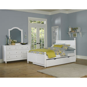 Lake House White Kennedy Full Bed with Trundle
