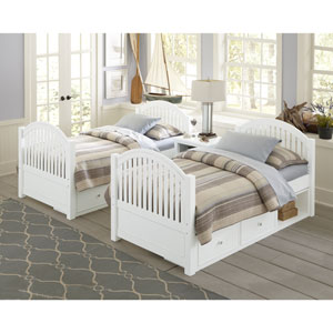 Lake House White Adrian Twin Bed with Storage