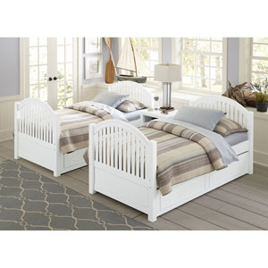Lake House White Adrian Twin Bed with Trundle