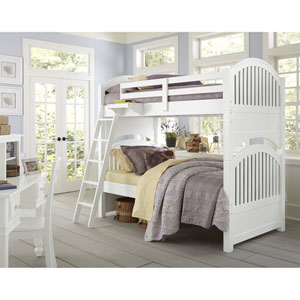 Lake House White Adrian Twin Bunk Bed
