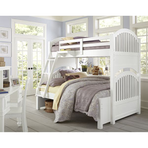Lake House White Adrian Twin Over Full Bunk Bed
