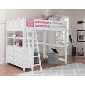 Lake House White Twin Loft Bed