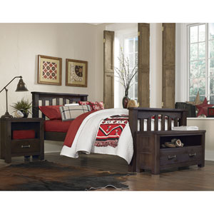 Highlands Espresso Harper Twin Bed