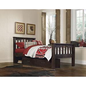 Highlands Espresso Harper Twin Bed with Storage