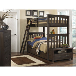 Highlands Espresso Harper Twin Bunk Bed with Trundle