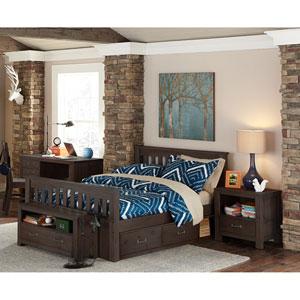 Highlands Espresso Harper Full Bed with Storage