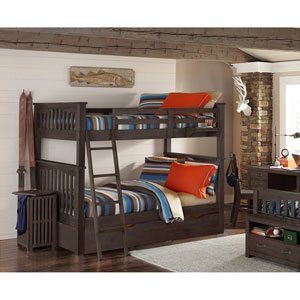 Highlands Espresso Harper Full Bunk Bed with Trundle