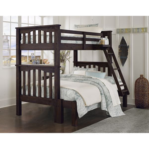 Highlands Espresso Harper Twin Over Full Bunk Bed Full Extension