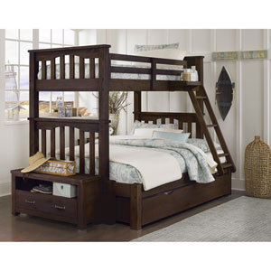 Highlands Espresso Harper Twin Over Full Bunk Bed with Trundle