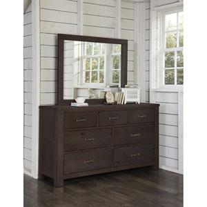 Highlands Espresso 7 Drawer Dresser with Mirror