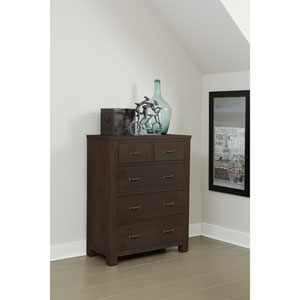 Highlands Espresso 5 Drawer Chest