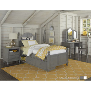 Lake House Stone Payton Arch Twin Bed with Storage