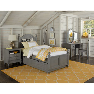 Lake House Stone Payton Arch Twin Bed with Trundle