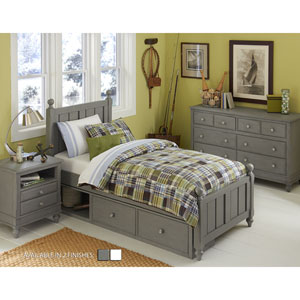 Lake House Stone Kennedy Twin Bed with Storage