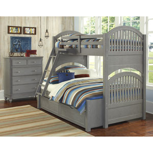 Lake House Stone Adrian Twin Over Full Bunk Bed with Trundle
