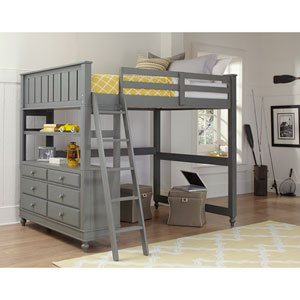 Lake House Stone Full Loft Bed