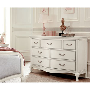 Kensington Antique White 7 Drawer Double Dresser