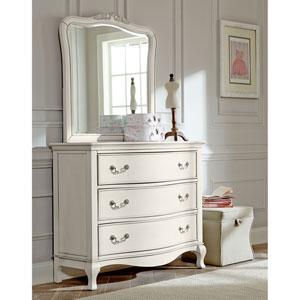 Kensington Antique White 3 Drawer Single Dresser with Mirror