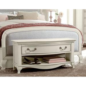 Kensington Antique White Dressing Bench
