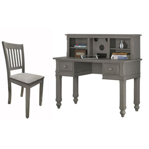 Lake House Stone Writing Desk with Hutch and Chair