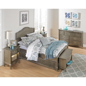 Kensington Antique Silver Charlotte Panel Full Bed with Trundle