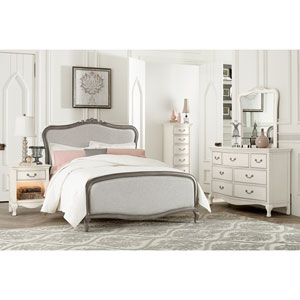 Kensington Antique Silver Full Katherine Upholstered Panel Bed