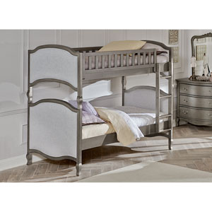 Kensington Antique Silver Victoria Twin Bunk Bed