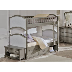 Kensington Antique Silver Victoria Twin Bunk Bed with Storage