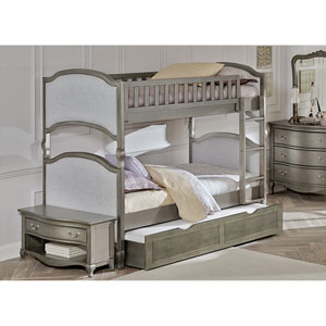 Kensington Antique Silver Victoria Twin Bunk Bed with Trundle