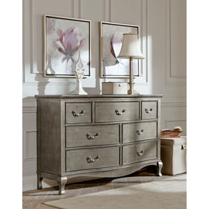 Kensington Antique Silver 7 Drawer Double Dresser