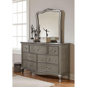 Kensington Antique Silver Dresser with Mirror