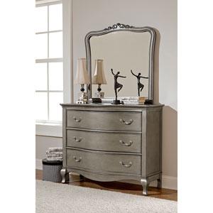 Kensington Antique Silver 3 Drawer Single Dresser with Mirror