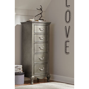 Kensington Antique Silver 5 Drawer Tall Chest